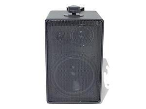 Speco Tech DMS-3TS Black Weather-Resistant 3-Way Speakers with Transformer Single