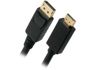 Omni Gear DP-3-HDMI 3 ft. Black DisplayPort to HDMI Cable Male to Male