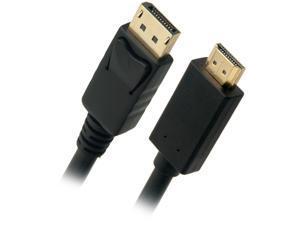 Omni Gear DP-10-HDMI 10 ft. Black DisplayPort to HDMI Cable