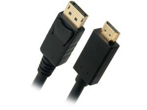Omni Gear DP-15-HDMI 15 ft. Black DisplayPort to HDMI Cable Male to Male