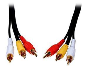 Comprehensive Model 3RCA-3RCA-3ST 3 ft Standard Series General Purpose 3 RCA Video Cable Male to Male