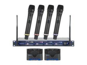 VocoPro UHF-5805 4-Channel Rechargeable Wireless Microphone System