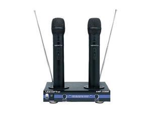 VocoPro VHF-3300 2 Channnel VHF Recharchable Wireless Microphone System