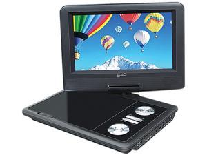 """Supersonic 7"""" Portable DVD Player with Swivel Display, Built-in USB and SD Card Slot SC-178DVD"""