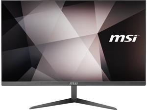 """MSI PRO 24X 10M-046US All-in-One PC - 23.8"""", Intel Pentium Gold 6405U 2.40 GHz Dual Core Processor, 4 GB DDR4, 64 GB SSD, 500 GB HDD, Windows 10 Pro"""