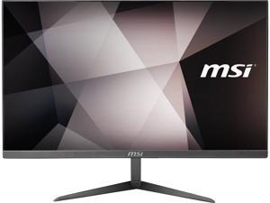 """MSI All-in-One Computer PRO 24X 10M-406US Pentium Gold 6405U (2.40 GHz) 4 GB DDR4 128 GB SSD 23.8"""" Windows 10 Pro 64-bit"""