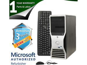DELL Desktop Computer T5400 Xeon E5405 (2.00 GHz) 4 GB DDR2 500 GB HDD NVIDIA NVS 295 Windows 7 Professional 64-bit