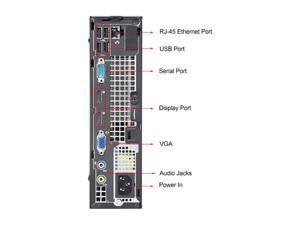 DELL Desktop Computer OptiPlex 7010 Intel Core i3 3rd Gen 3220 (3.30 GHz) 4 GB DDR3 500 GB HDD Intel HD Graphics 2500 Windows 7 Professional 64-bit