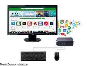 "ASUS Celeron Chromebox w/ 24"" FHD Monitor Essential Desktop with Chrome OS Keyboard Mouse for Homeschooling"