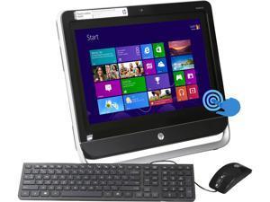 HP All-in-One PC TouchSmart 20-f230 (H5P48AA#ABA) AMD Dual-Core Processor E1-2500 (1.40 GHz) 4 GB DDR3 500 GB HDD AMD Radeon HD 8240 Windows 8