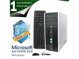 HP Desktop Computer Elite 8000 Core 2 Duo E8400 (3.00 GHz) 4 GB DDR3 500 GB HDD Intel GMA 4500 Windows 7 Professional 64-bit