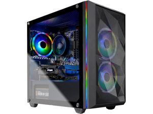 Skytech Chronos Gaming PC Desktop - AMD Ryzen 3 3100, NVIDIA GTX 1650 SUPER 4 GB, 8 GB DDR4, 500 GB SSD, A320 Motherboard, 550 Watt Bronze