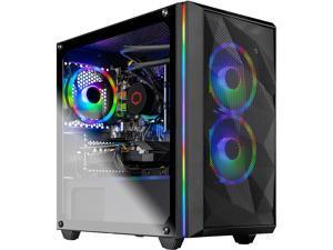 Skytech Chronos Mini Gaming Computer PC Desktop - Ryzen 5 3600X 6-Core 3.80 GHz, RTX 2060 6 GB, 1 TB SSD, 16 GB DDR4 3000, 240mm AIO, B450M MB, AC WiFi, Windows 10 Home 64-bit, Black