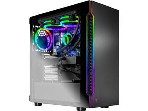 Skytech Shadow 3.0 Gaming Computer PC Desktop - Ryzen 5 3600X 6-Core 3.80 GHz, RTX 2060 6 GB, 1 TB SSD, 16 GB DDR4 3000, 240mm AIO, B450M MB, AC WiFi, Windows 10 Home 64-bit, Black