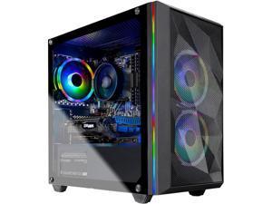 Skytech Chronos Mini Gaming Computer PC Desktop - Ryzen 5 3600 6-Core 3.60 GHz, RTX 2060 6 GB, 1 TB SSD, 16 GB DDR4 3000, B450 MB, RGB Fans, 600W Gold PSU, AC WiFi, Windows 10 Home 64-bit, Black