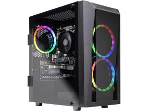Skytech Blaze II Gaming Computer PC Desktop - Ryzen 5 3600 6-Core 3.60 GHz, GTX 1660 6 GB, 500 GB SSD, 16 GB DDR4 3000, B450 MB, RGB, AC WiFi, Windows 10 Home 64-bit (Refurbished)