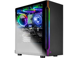 Skytech Shadow Gaming Computer PC Desktop - Core i7-9700KF 8-Core 3.60 GHz, RTX 2060 6 GB, 1 TB SSD, 16 GB DDR4 3000, RGB Fans, AC WiFi, Windows 10 Home 64-bit, Black
