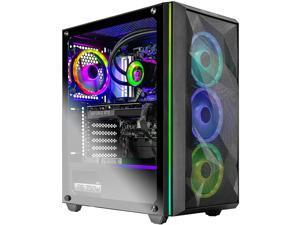 Skytech Chronos Gaming PC Desktop AMD Ryzen 7 3700X 8-Core 3.60GHz, NVIDIA GeForce RTX 3070 8GB, 16GB DDR4 3000, 1TB NVMe Gen 4, 750W Gold PSU, 240MM AIO, 11AC WiFi, Windows 10 Home 64-bit