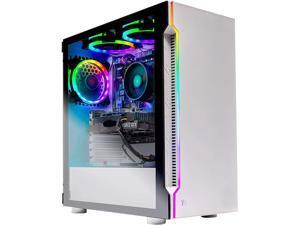 Skytech Archangel 3.0 Gaming Computer PC Desktop - Ryzen 5 3600 6-Core 3.6GHz, GTX 1650 Super 4G, 500GB SSD, 16GB DDR4 3000, AC WiFi, Windows 10 Home 64-bit, White (Refurbished)