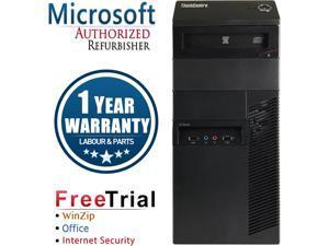 Refurbished Lenovo ThinkCentre M82 Tower Intel Core i5 3470 3.2G / 8G DDR3 / 240G SSD+2TB / DVD / Windows 10 Professional 64 Bit / 1 Year Warranty