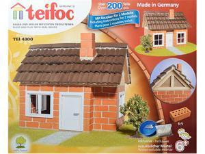 Teifoc 4300 Frame Work House Brick Construction Set - 200+ Pcs.