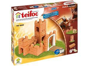 Teifoc 3500 Medium Castle Brick Construction Set - 200 Pcs.