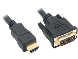 Kaybles HDMIDVI-15BK 15 ft. HDMI Male to DVI-D Adapter Cable with Gold-plated Connector, Black