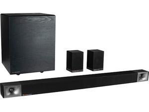 Klipsch Cinema 600 5.1 Bundle Sound Bar with Surround Sound System - Black