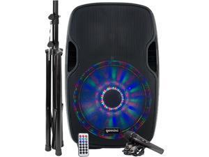 "Gemini AS-15BLU-LT-PK 15"" Multi-LED Bluetooth Speaker System"