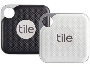 Tile Pro with Replaceable Battery - Key Finder. Phone Finder. Anything Finder - 2 Pack (1 x Black, 1 x White) - RT-18002