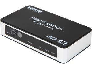 Rosewill RCHS-18004 Premium 3 port High Speed HDMI Switch with IR Wireless Remote Support 3D and 4K@30Hz