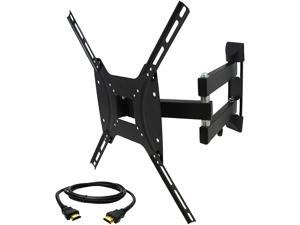 """Megamounts GML643-HDMI-BNDL < 60"""" Full Motion Wall Mount for 26-55 in. Plasma-LCD-LED TV's With HDMI"""