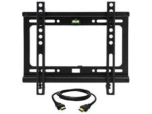 """Megamounts GMPF22-HDMI-BNDL 17"""" - 42"""" Fixed Wall Mount for 17-42 in. Displays With HDMI"""