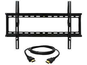 """Megamounts GMPF26N-HDMI-BNDL 32"""" - 70"""" Fixed Wall Mount for 32-70 in. Displays"""