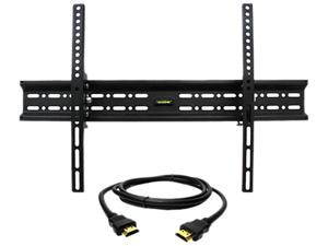 """Megamounts GMPT646-HDMI-BNDL 32"""" - 70"""" Tilt Wall Mount for 30-70 in. Displays with HDMI"""