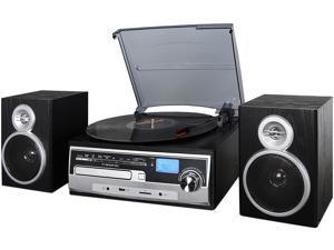 Trexonic TRX-28SP 3-Speed Turntable With CD Player, FM Radio, Bluetooth, USB/SD Recording