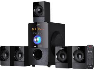 BeFree Sound BFS-440 5.1 CH 80W Bluetooth Speaker System, Black System