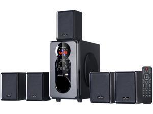 BeFree Sound BFS-455 5.1 CH 45W 5.1 Channel Surround Sound Bluetooth Speaker System, Black System