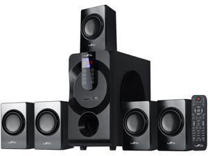 BeFree Sound BFS-460 5.1 CH 80W 5.1 Channel Surround Sound Bluetooth Speaker System, Black System