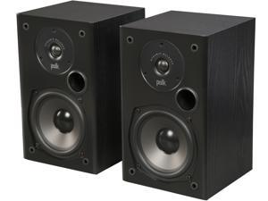 Polk Audio T15 Home Theater and Music Bookshelf Speaker (Black/Pair)