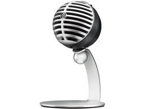 Shure MV5 Home Studio Microphone (Silver) for Recording Vocals, Instruments and Podcasts