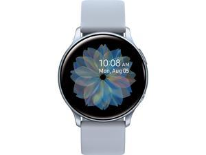 Samsung Galaxy Watch Active 2 (40mm, GPS, Bluetooth) Smart Watch with Advanced Health Monitoring, Fitness Tracking, and Long Lasting Battery - Silver
