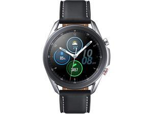Samsung Galaxy Watch 3 (45mm, GPS, Bluetooth, Unlocked LTE) Smart Watch with Advanced Health monitoring, Fitness Tracking, and Long lasting Battery - Mystic Silver