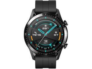 Huawei Watch GT 2 Sport Edition AMOLED Touchscreen GPS Smartwatch With Black Fluoroelastomer Strap - 46mm (55024688)