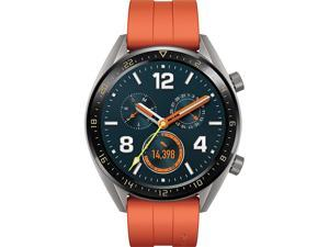 "Huawei Watch GT Active Edition 1.39"" AMOLED Touchscreen GPS Smartwatch with Orange Fluoroelastomer Strap (55024358)"