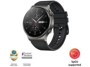 HUAWEI WATCH GT 2 Pro 46mm Night Black, GPS, SpO2, 2-week Battery, Bluetooth Calling, Ski/Golf Modes (Canada Warranty)