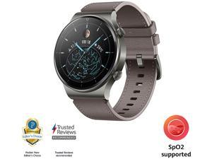 HUAWEI WATCH GT 2 Pro 46mm Nebula Gray, GPS, SpO2, 2-week Battery, Bluetooth Calling, Ski/Golf Modes (Canada Warranty)