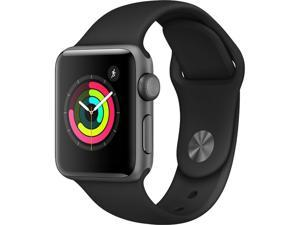 Apple MTF02B/A Watch Series 3 GPS, 38mm Space Grey Aluminium Case with Black Sport Band