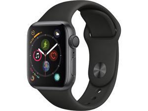 Apple MU662B/A Watch Series 4 GPS, 40mm Space Grey Aluminium Case with Black Sport Band