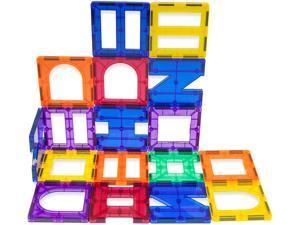 PicassoTiles PT42 Designer Artistry Kit 42pcs Set Magnet Building Tiles Clear Color Magnetic 3D Building Block